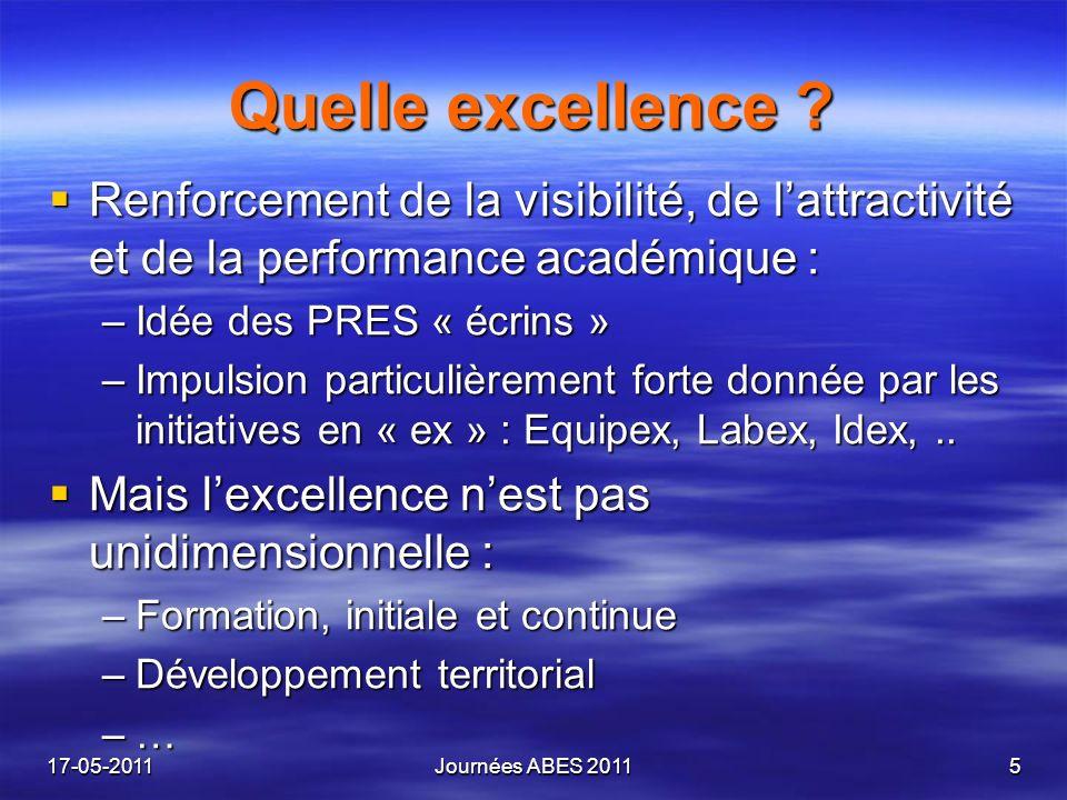 Quelle excellence ? Renforcement de la visibilité, de lattractivité et de la performance académique : Renforcement de la visibilité, de lattractivité