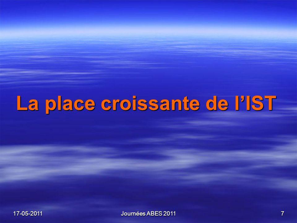 La place croissante de lIST 17-05-2011Journées ABES 20117