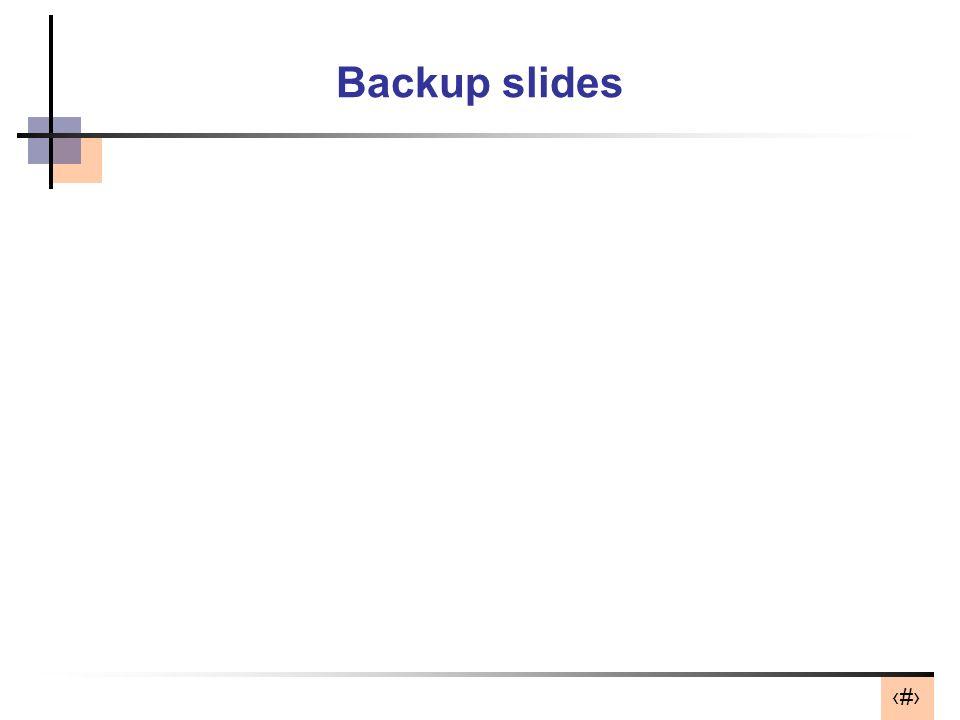 34 Backup slides
