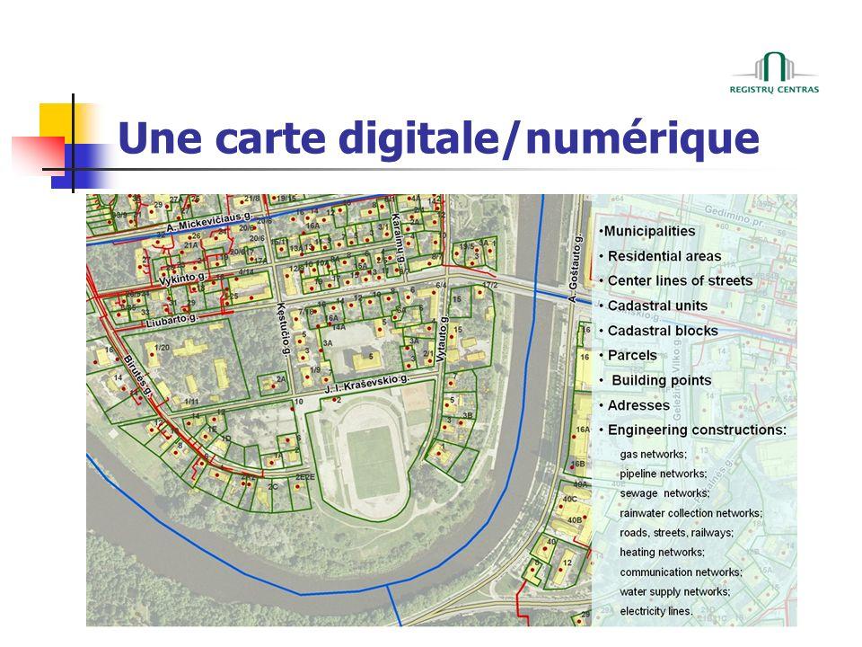 Une carte digitale/numérique