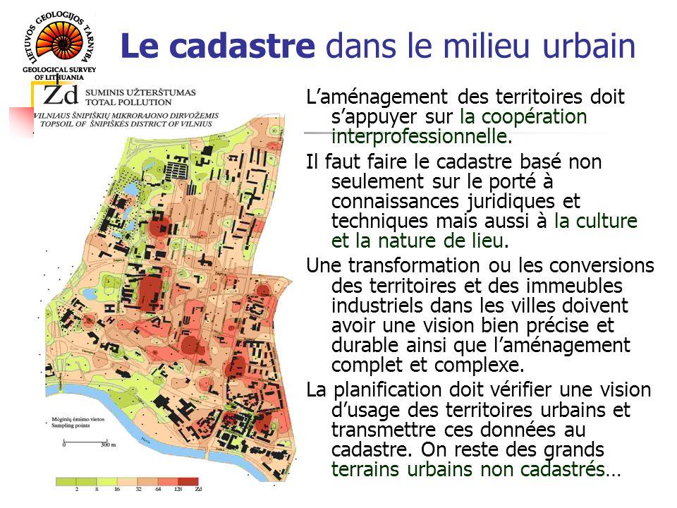 Le cadastre dans le milieu urbain Laménagement des territoires doit sappuyer sur la coopération interprofessionnelle.