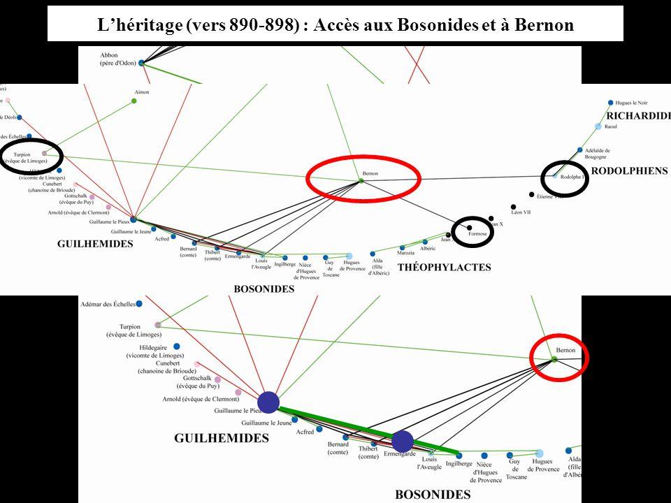 Lhéritage (vers 890-898) : Accès aux Bosonides et à Bernon