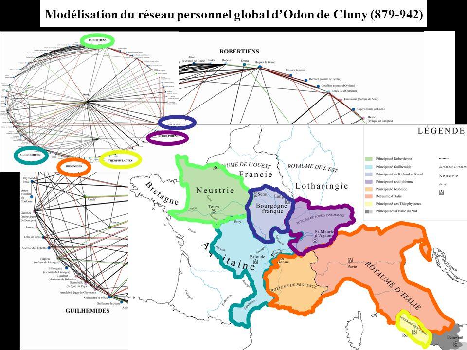 Modélisation du réseau personnel global dOdon de Cluny (879-942) RICHARDIDES