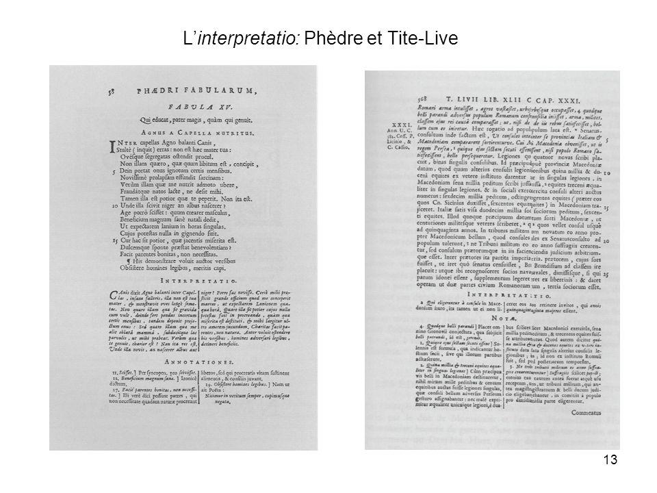 13 Linterpretatio: Phèdre et Tite-Live
