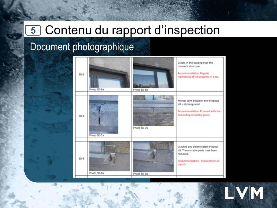 Contenu du rapport dinspection Document photographique 5