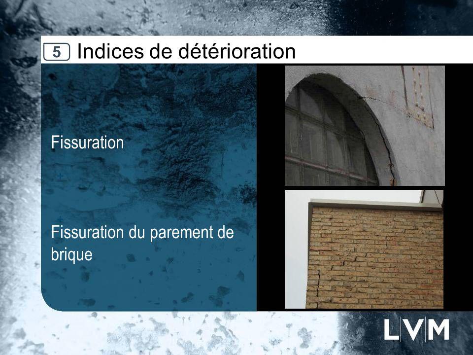 Indices de détérioration Fissuration Fissuration du parement de brique Insert photo 5