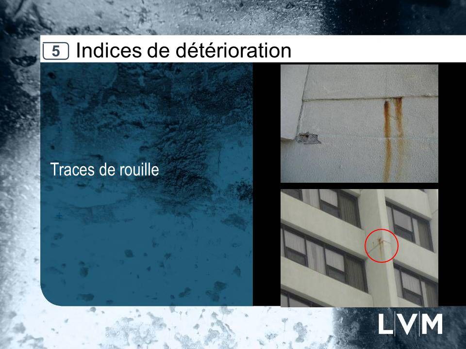 Indices de détérioration Traces de rouille Insert photo 5