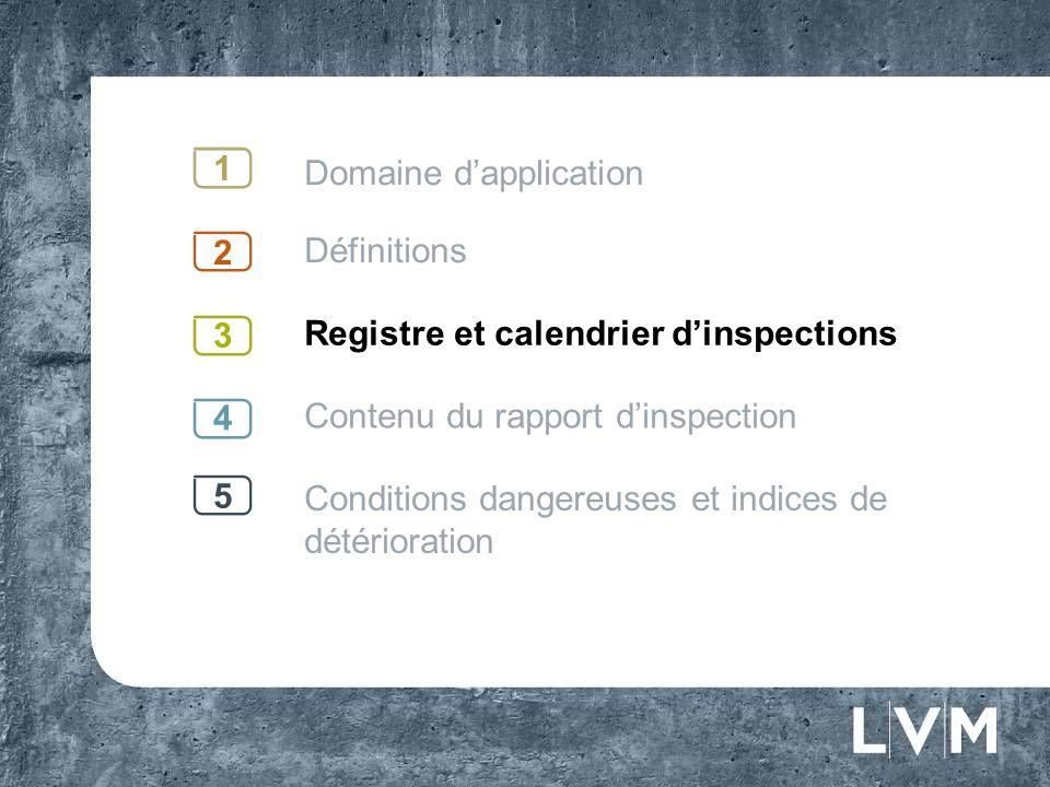 Registre et calendrier dinspections Élaboration dun registre 3 Doit contenir linformation pertinente se rapportant au bâtiment en question; Doit être disponible sur les lieux pour consultation par la Régie