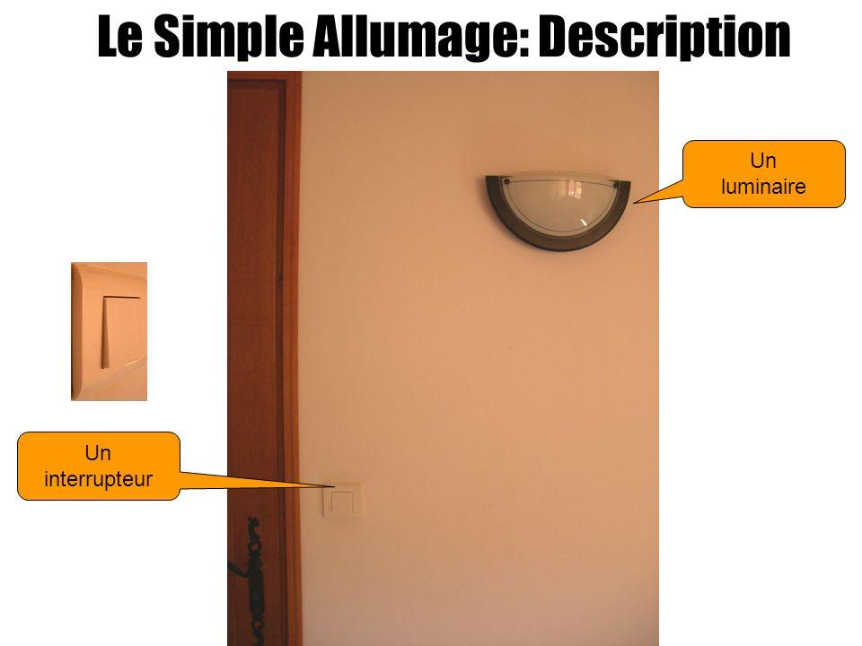 Le Simple Allumage: Description Un interrupteur Un luminaire