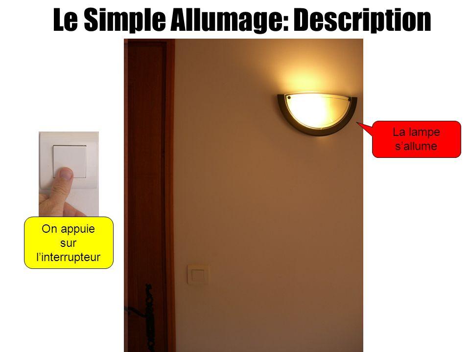 Le Simple Allumage: Description On appuie sur linterrupteur La lampe sallume