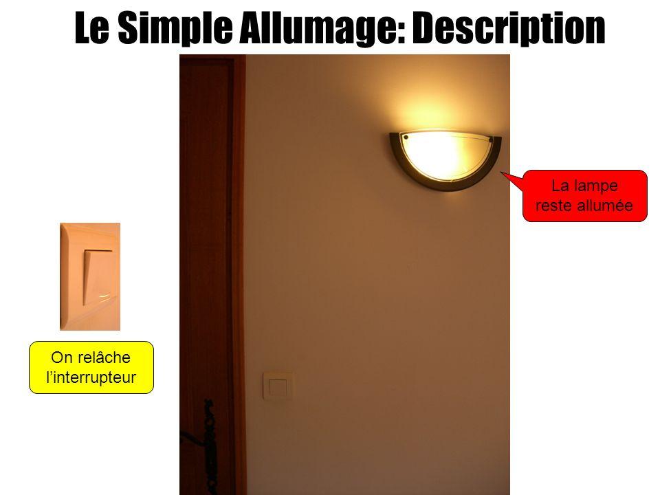 Le Simple Allumage: Description On relâche linterrupteur La lampe reste allumée