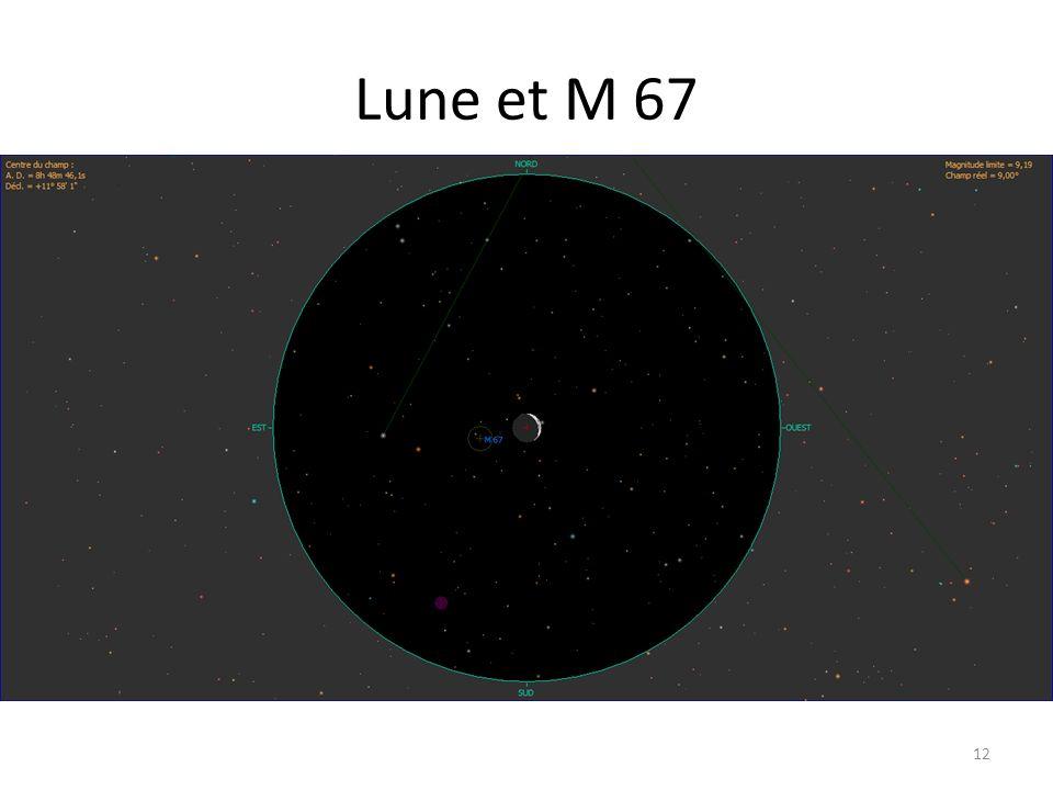 Lune et M 67 12