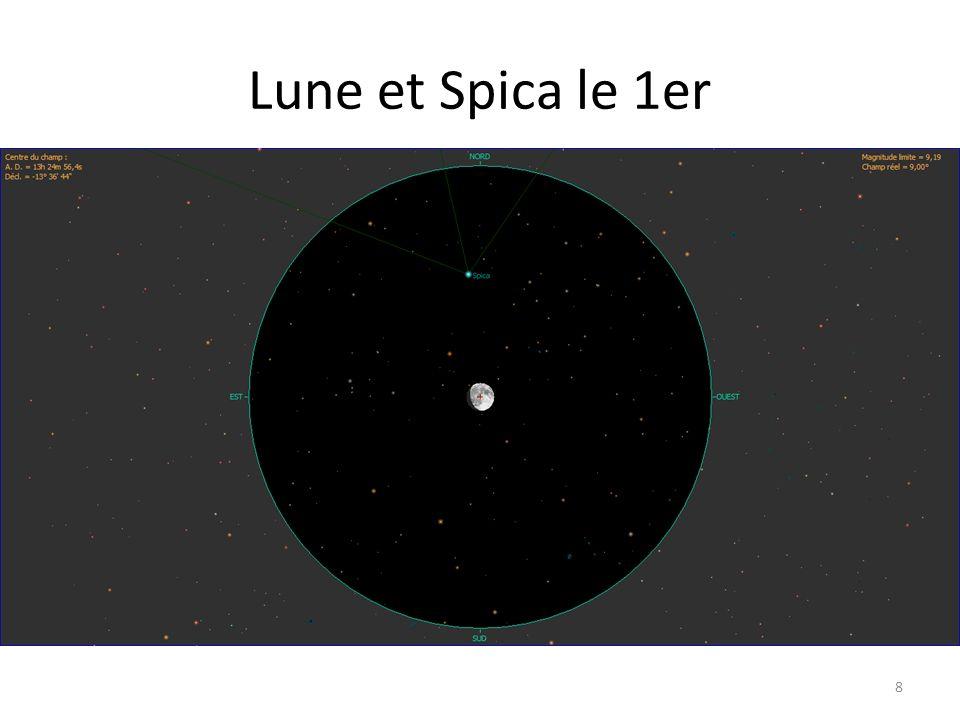 Lune et Spica le 1er 8
