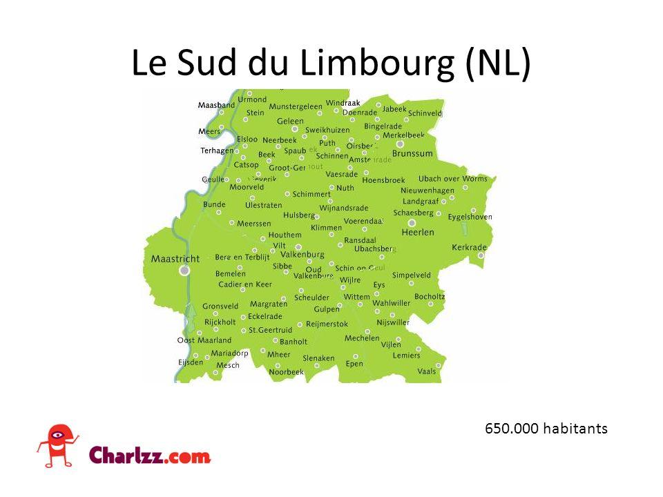 Le Sud du Limbourg (NL) 650.000 habitants