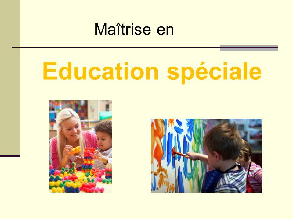 Education spéciale Maîtrise en