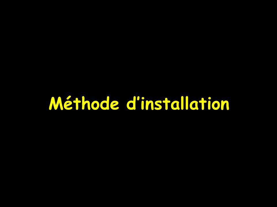 Méthode dinstallation