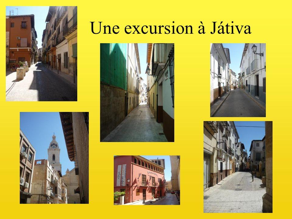 Une excursion à Játiva