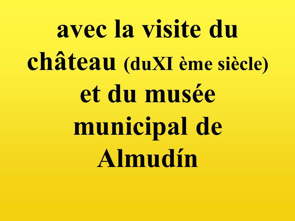 avec la visite du château (duXI ème siècle) et du musée municipal de Almudín