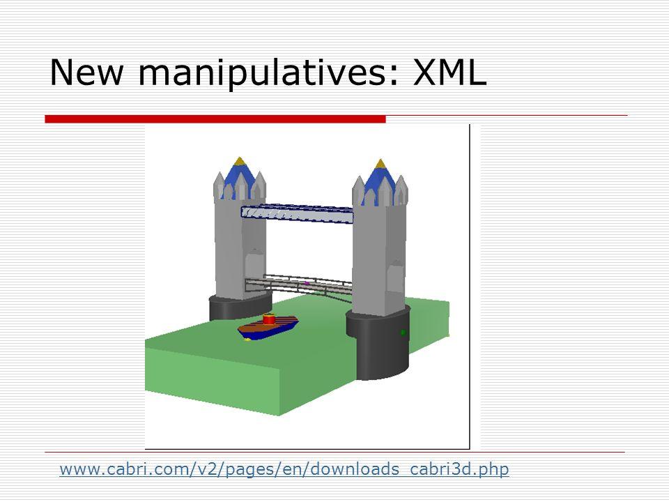 New manipulatives: XML www.cabri.com/v2/pages/en/downloads_cabri3d.php