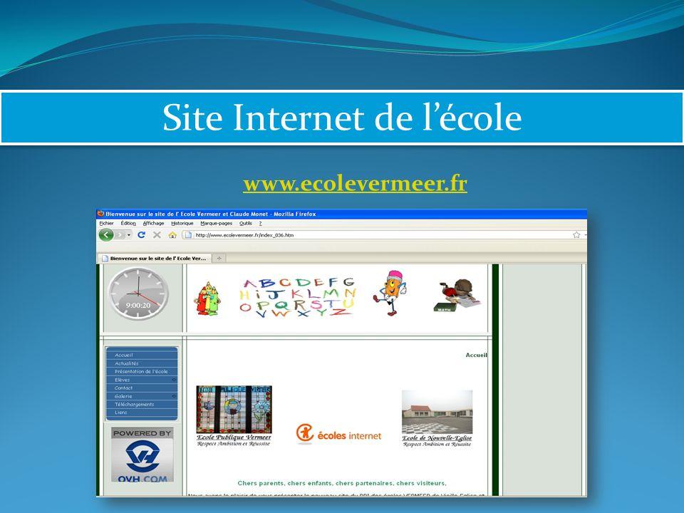 Site Internet de lécole www.ecolevermeer.fr