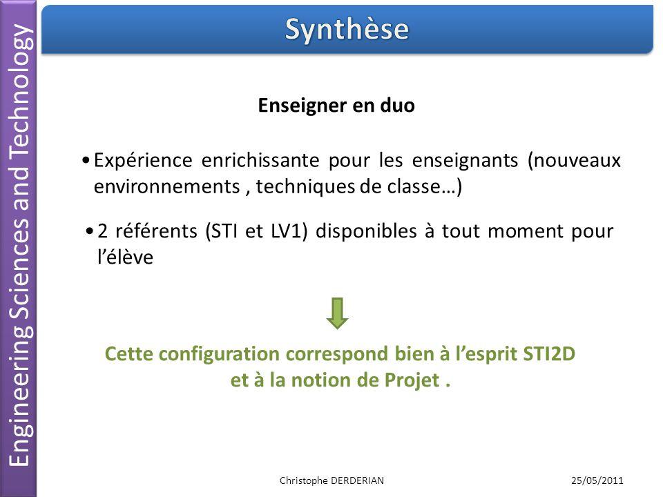 Engineering Sciences and Technology 2 référents (STI et LV1) disponibles à tout moment pour lélève Enseigner en duo Expérience enrichissante pour les