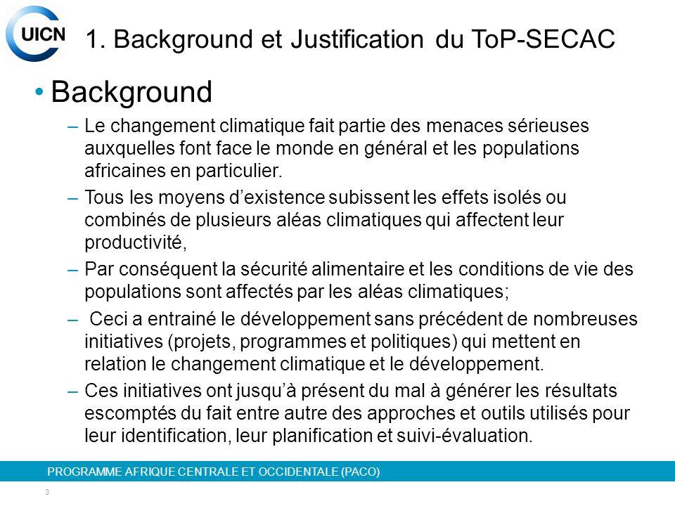 PROGRAMME AFRIQUE CENTRALE ET OCCIDENTALE (PACO) 4 1.