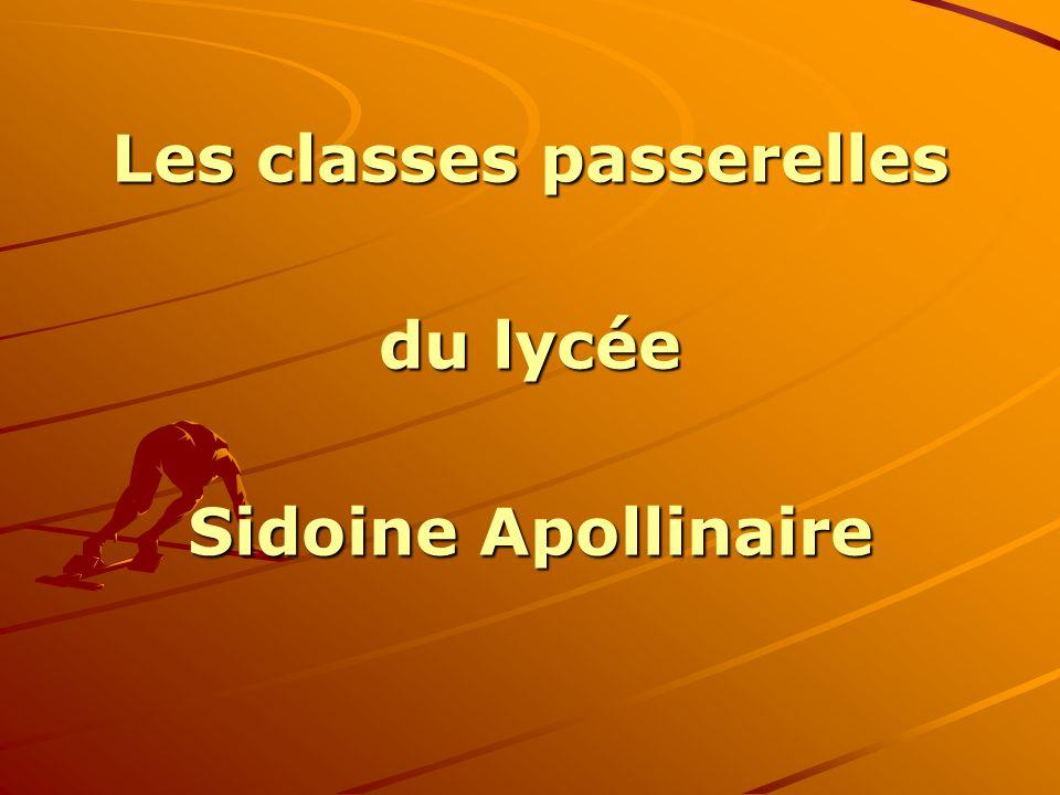 Les classes passerelles du lycée Sidoine Apollinaire