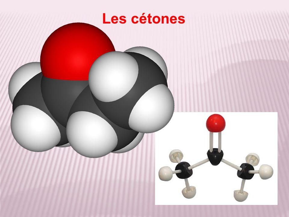 Test d identification Les cétones diffèrent des aldéhydes par leurs résultats aux tests suivants : + à la 2,4-DNPH avec la formation d un précipité jaune orangé ; - à la liqueur de Fehling avec une absence de réaction.
