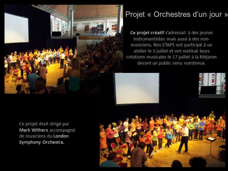Ce projet créatif sadressait à des jeunes instrumentistes mais aussi à des non- musiciens. Nos ETAPS ont participé à un atelier le 5 juillet et ont re