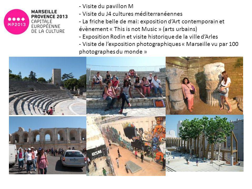 - Visite du pavillon M - Visite du J4 cultures méditerranéennes - La friche belle de mai: exposition dArt contemporain et évènement « This is not Musi