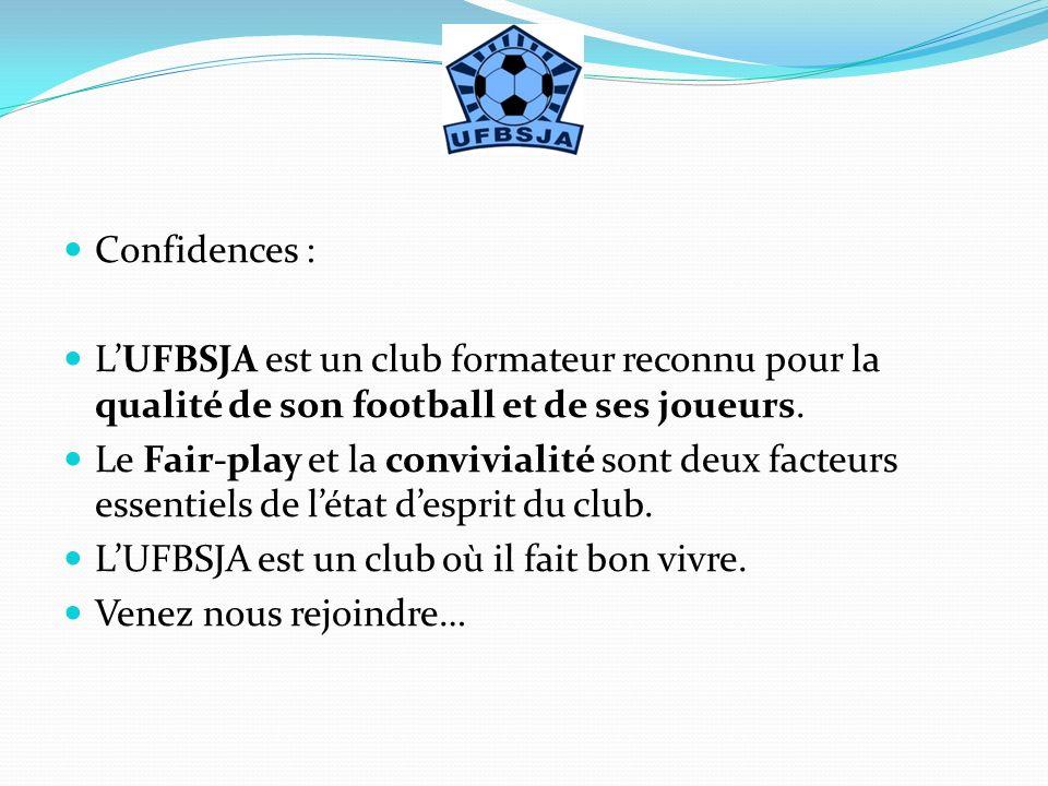 Confidences : LUFBSJA est un club formateur reconnu pour la qualité de son football et de ses joueurs. Le Fair-play et la convivialité sont deux facte