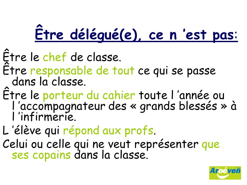 comment devenir delegue de la classe