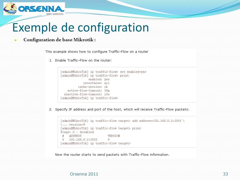 Exemple de configuration Orsenna 201133 Configuration de base Mikrotik :