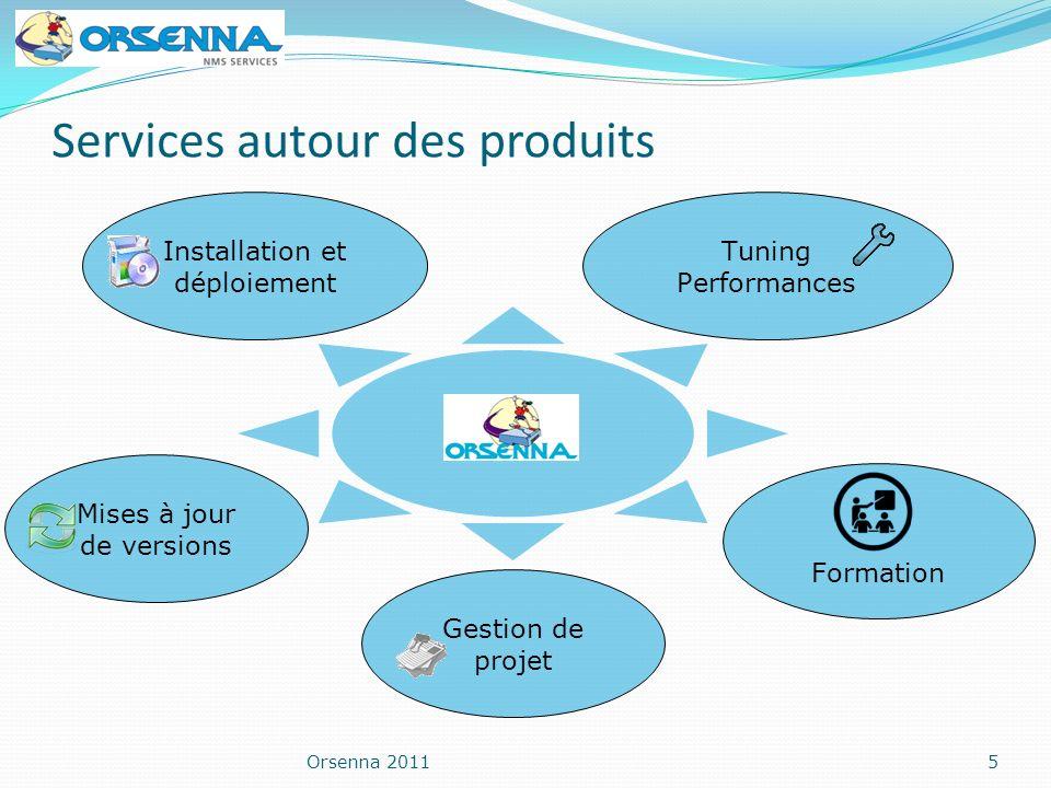 Orsenna 20115 Services autour des produits Formation Tuning Performances Mises à jour de versions Installation et déploiement Gestion de projet