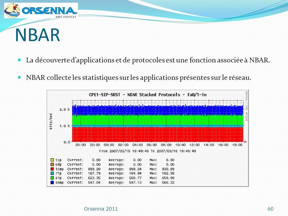 NBAR La découverte dapplications et de protocoles est une fonction associée à NBAR. NBAR collecte les statistiques sur les applications présentes sur