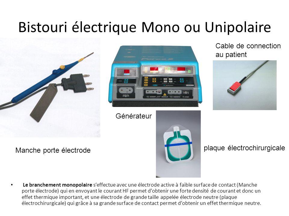 Bistouri électrique Principe de lélectrochirurgie : – Le bistouri électrique est un appareil médical qui produit un courant électrique de haute fréque