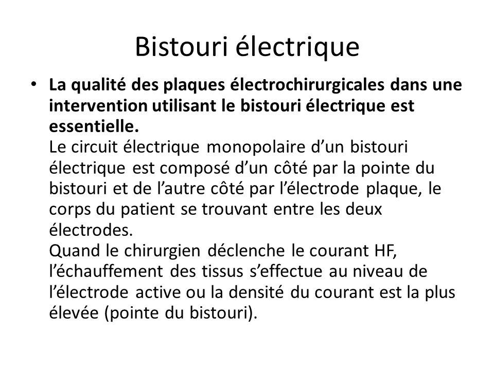 Bistouri électrique Pourquoi utilisent-on des courants à haute fréquence en électrochirurgie. Lorsque le corps humain est traversé par un courant élec
