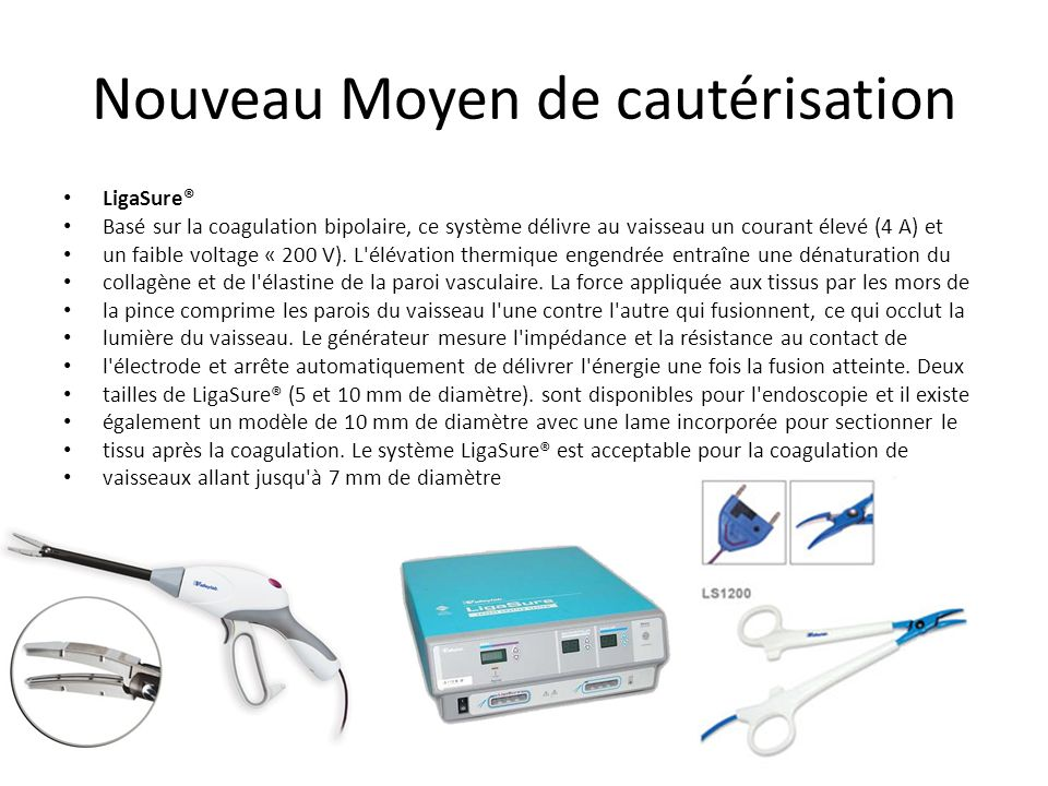 Bistouri électrique Principales complications potentielles de lutilisation du bistouri électrique : En mode monopolaire, les complications sont plus n