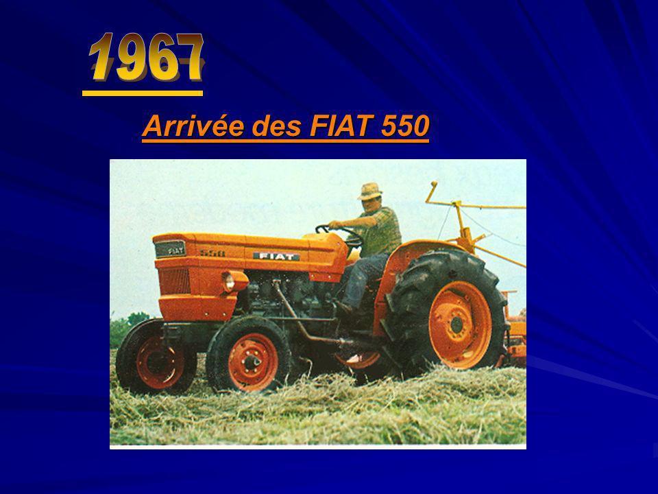 Arrivée des FIAT 550