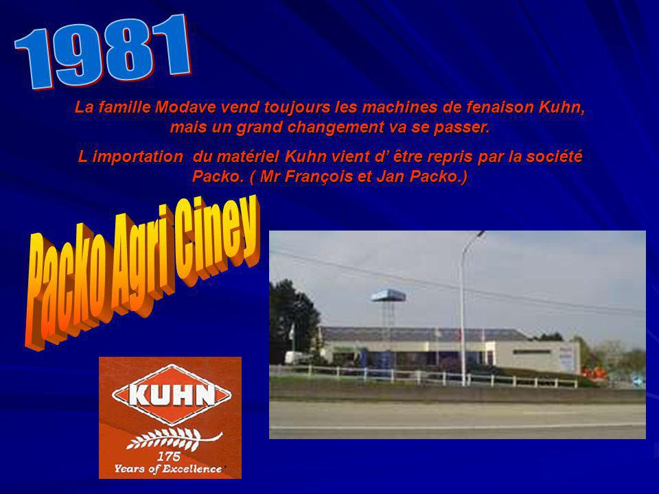 La famille Modave vend toujours les machines de fenaison Kuhn, mais un grand changement va se passer. L importation du matériel Kuhn vient d être repr