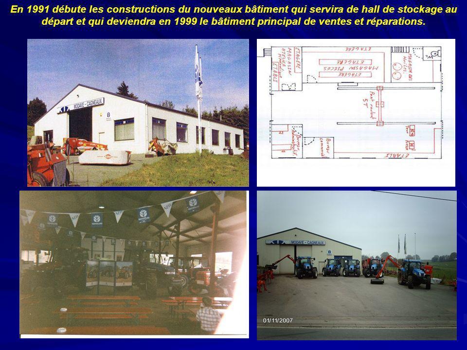 En 1991 débute les constructions du nouveaux bâtiment qui servira de hall de stockage au départ et qui deviendra en 1999 le bâtiment principal de vent