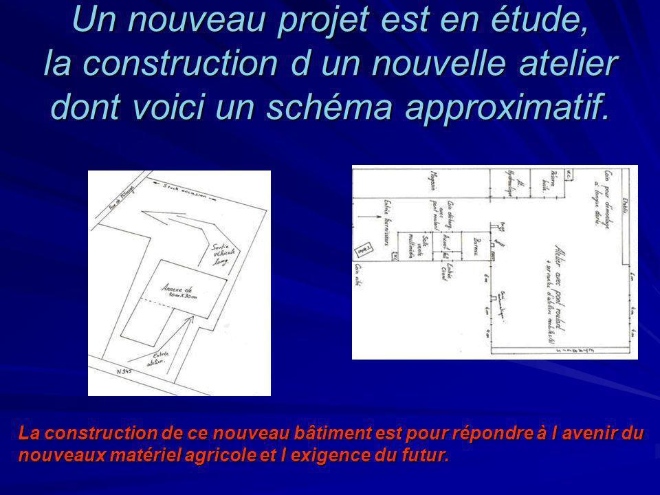 Un nouveau projet est en étude, la construction d un nouvelle atelier dont voici un schéma approximatif. La construction de ce nouveau bâtiment est po