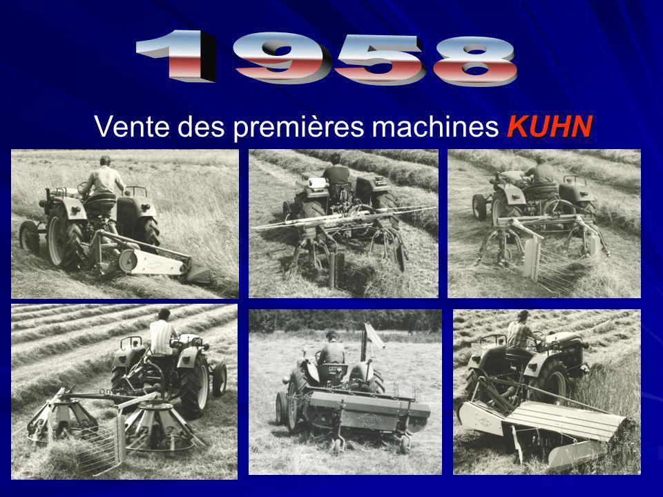 KUHN Vente des premières machines KUHN