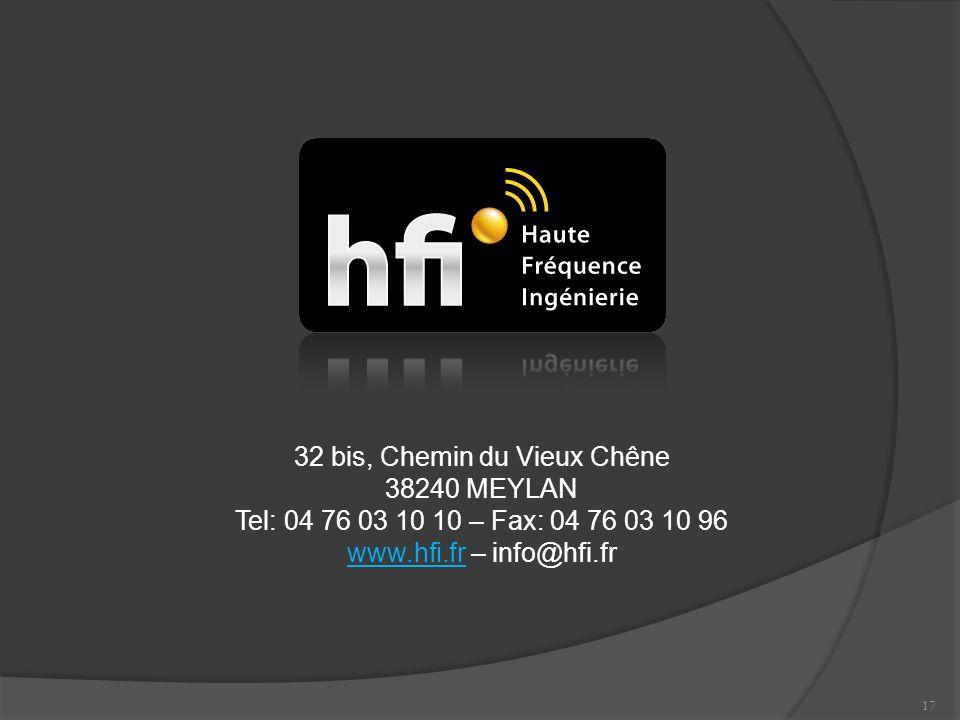 17 32 bis, Chemin du Vieux Chêne 38240 MEYLAN Tel: 04 76 03 10 10 – Fax: 04 76 03 10 96 www.hfi.frwww.hfi.fr – info@hfi.fr