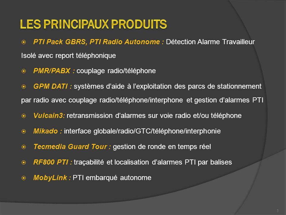 5 PTI Pack GBRS, PTI Radio Autonome : Détection Alarme Travailleur Isolé avec report téléphonique PMR/PABX : couplage radio/téléphone GPM DATI : systè