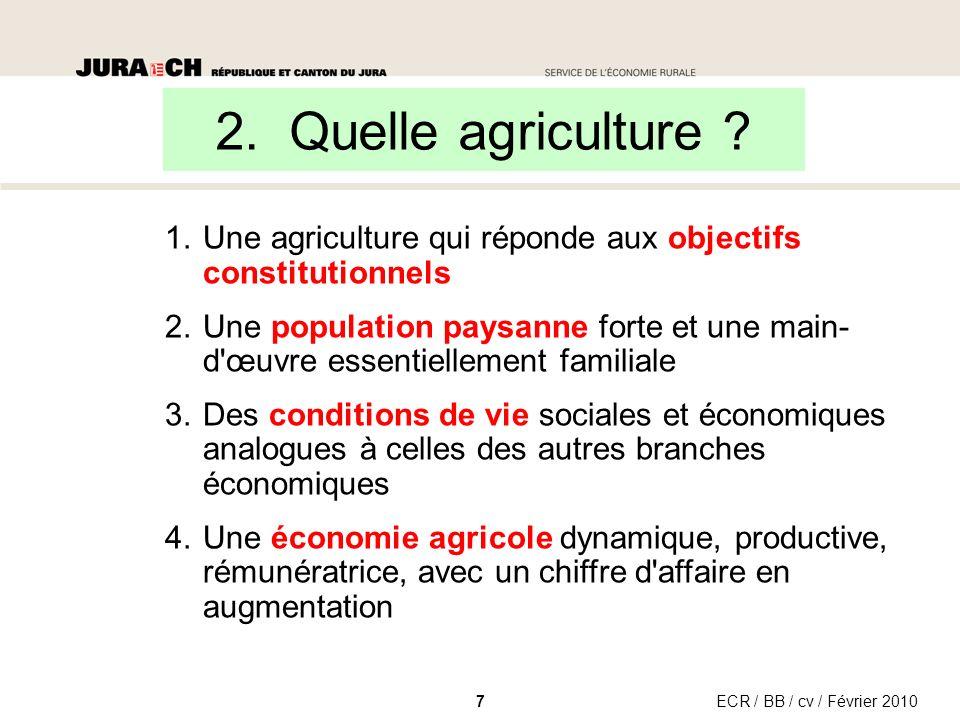 2. Quelle agriculture .