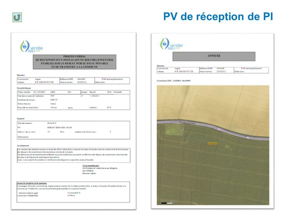 PV de réception de PI