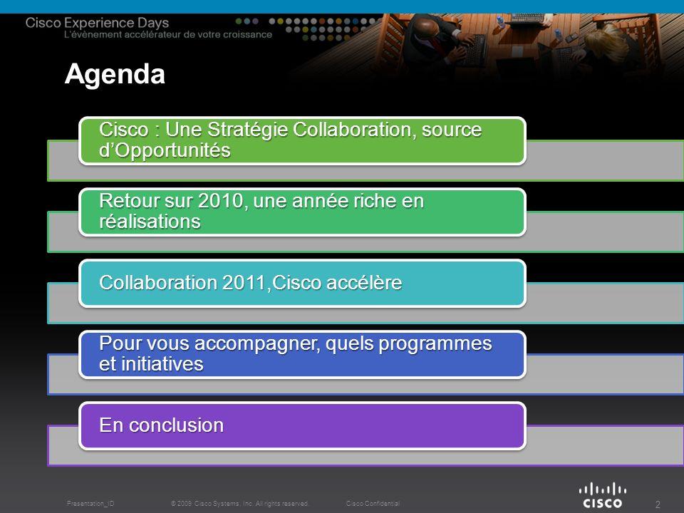 Cisco, une Stratégie Collaboration Source dOpportunités