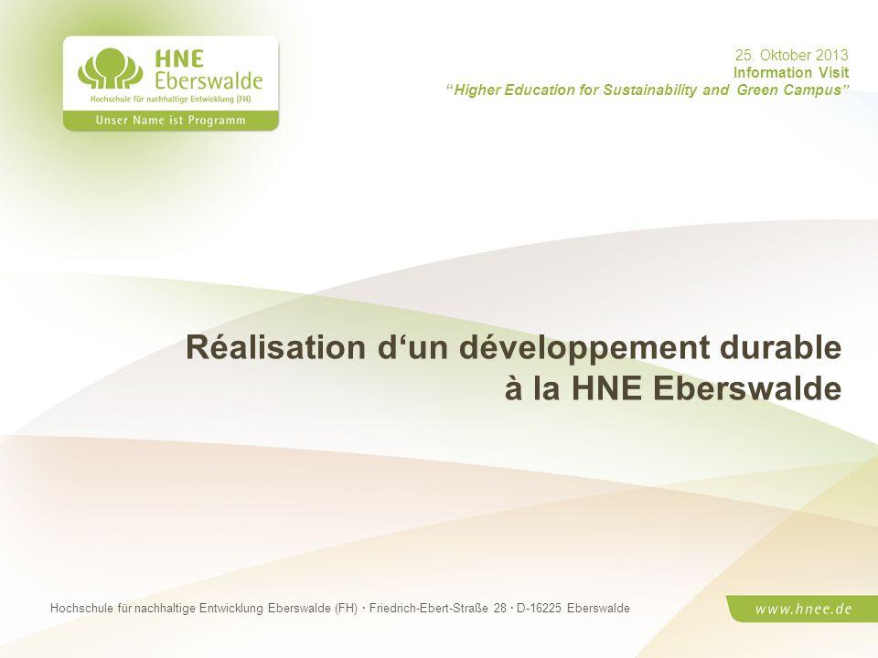Kerstin Kräusche· HNE Eberswalde (FH) UmweltmanagerinSeite 1 Hochschule für nachhaltige Entwicklung Eberswalde (FH) · Friedrich-Ebert-Straße 28 · D-16