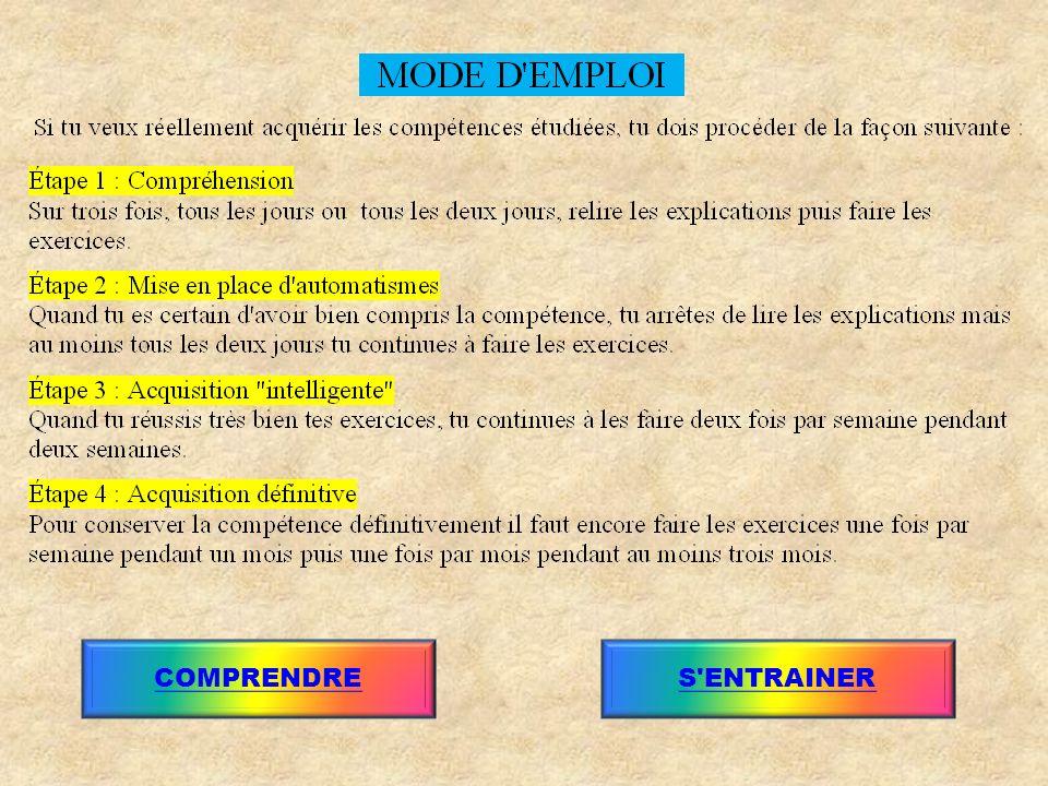 COMPRENDRES ENTRAINER